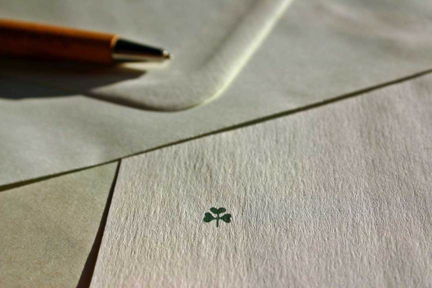 Stationary with shamrock on it