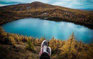 Taking a sabbatical overlooking lake